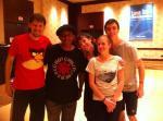 (Right to Left) Michael, Steven, Rebecca, me, David