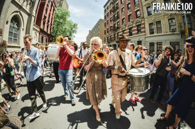 The parade through Harlem on Frankie's birthday/Memorial day was incredible. - Photo Credit to ALC Fotografía.